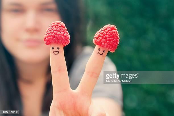 raspberry hats - twee objecten stockfoto's en -beelden