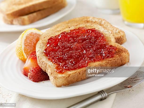 Raspberry Jam on Toast