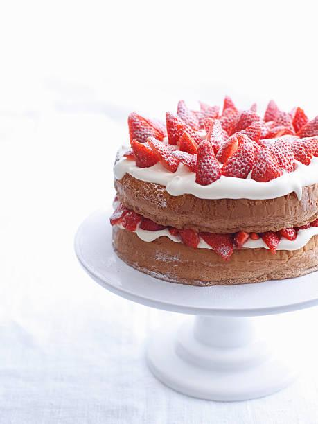 Raspberry Layer Cake On Platter Wall Art