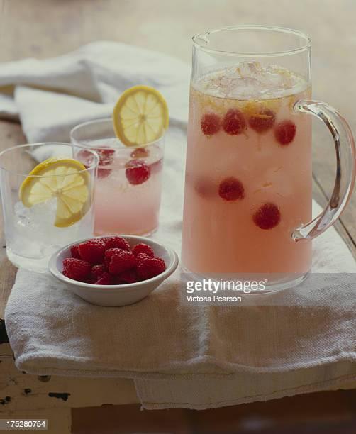 raspberry lemoncello sangria - sangria stock pictures, royalty-free photos & images