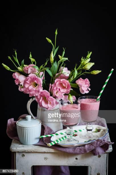 raspberry milk shake