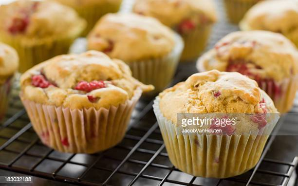 Raspberry Muffins Cooling