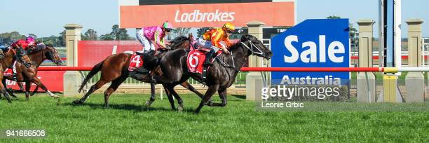 Raspberry Rose ridden by Jessica Payne wins the Kwik Tip Bins FM BM64 Handicap at Sale Racecourse on April 04 2018 in Sale Australia