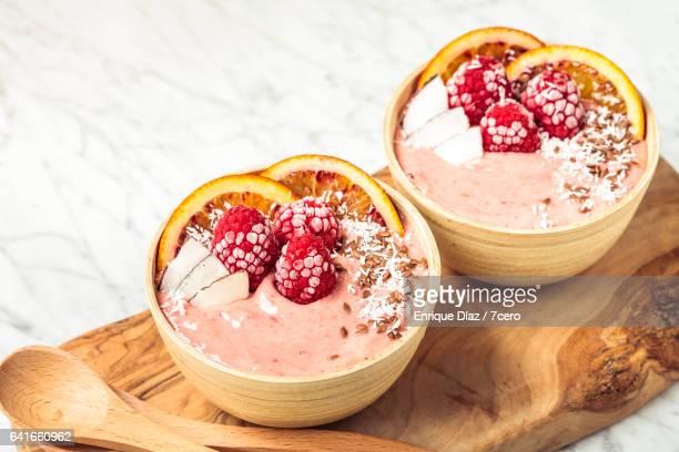Raspberry Smoothie Bowls
