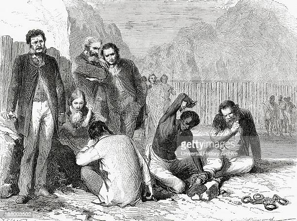 Rassam And Members Of His Mission Being Put In Chains After Being Taken Prisoner By Tewodros Ii In Abyssinia In 1868 Hormuzd Rassam 1826 To 1910...