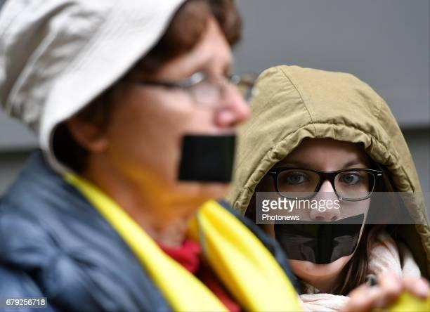 Rassemblement devant l'ambassade de Turquie organisé par Amnesty International à l'occasion de la Journée mondiale de la liberté de la presse / Actie...