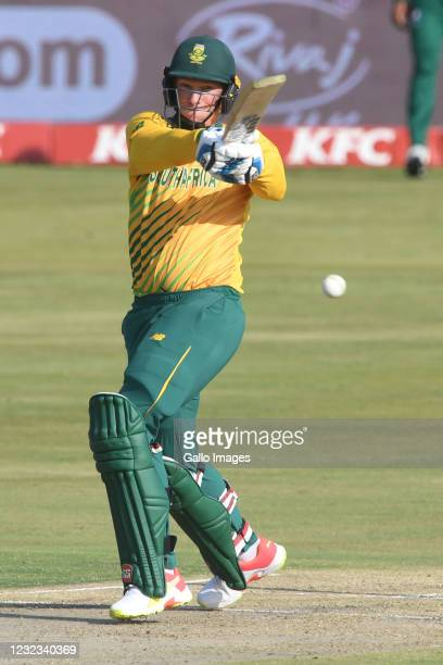 Rassie van der Dussen of the Proteas during the 4th KFC T20 International match between South Africa and Pakistan at SuperSport Park on April 16,...