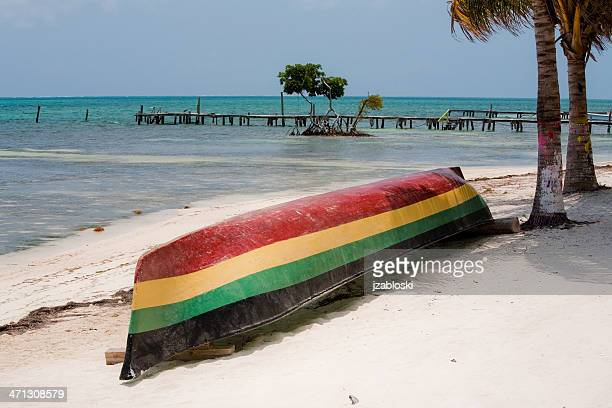 rasta boat - jamaica stock pictures, royalty-free photos & images