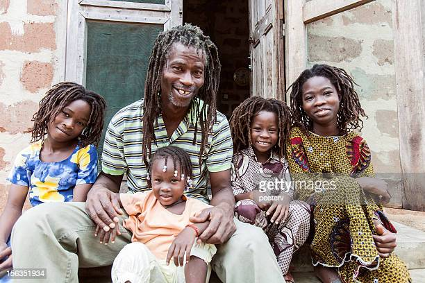 rasta family. - reggae stock photos and pictures