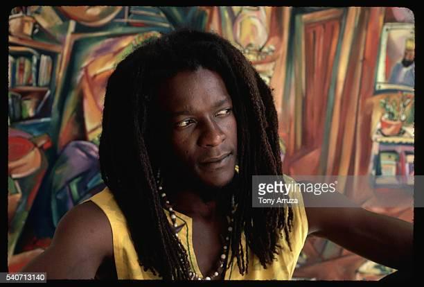 Rastafarian Painter at Home