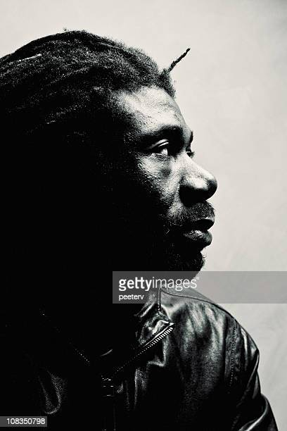 rastaman portrait - reggae stock photos and pictures