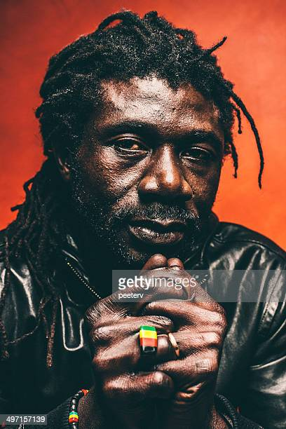 rastaman portrait. - reggae stock photos and pictures