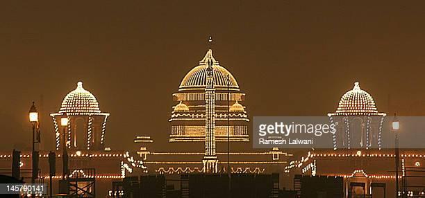 Rastrapati Bhawan lights