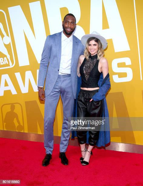Rasual Butler and Leah LaBelle attend the 2017 NBA Awards at Basketball City Pier 36 South Street on June 26 2017 in New York City