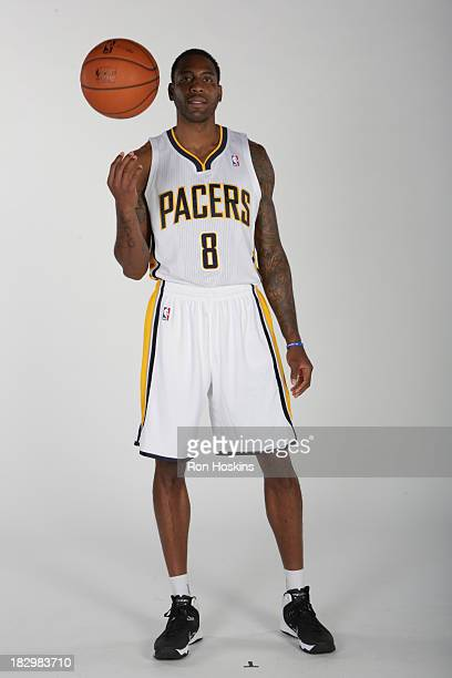Rasual Butler of the Indiana Pacers poses for a picture during media day at Bankers Life Fieldhouse on September 27 2013 in Indianapolis Indiana NOTE...