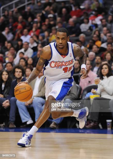 Rasual Butler of the Los Angeles Clippers drives the ball upcourt during the game against the Orlando Magic at Staples Center on December 8 2009 in...