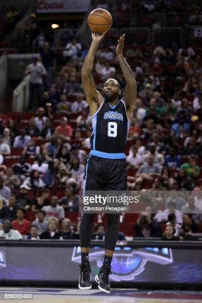 Rasual Butler of the Power shoot the ball in the game against the 3 Headed Monsters in week nine of the BIG3 threeonthree basketball league at...