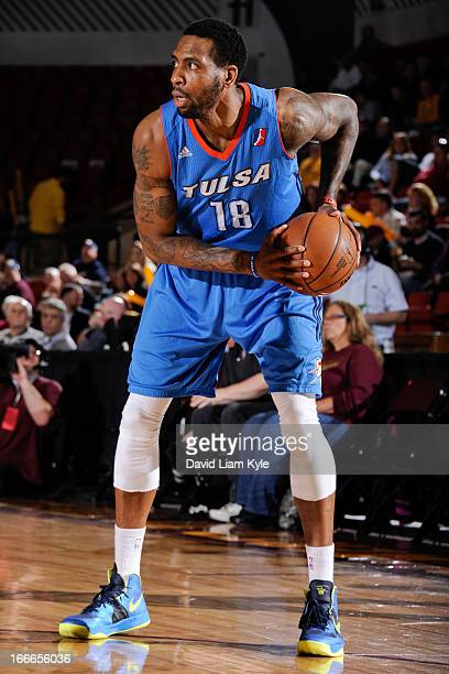 Rasual Butler of the Tulsa 66ers controls the ball against the Canton Charge during an NBA DLeague playoff game at the Canton Memorial Civic Center...