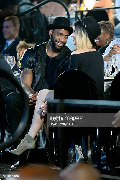 Rasual Butler of the Washington Wizards sits in the audience during The Players' Awards presented by BET at the Rio Hotel Casino on July 19 2015 in...