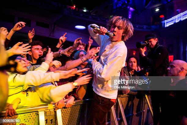 df0c49f2cb1e3 Rat Boy performs along the front row at the NME Awards Tour 2016 onstage at  O2