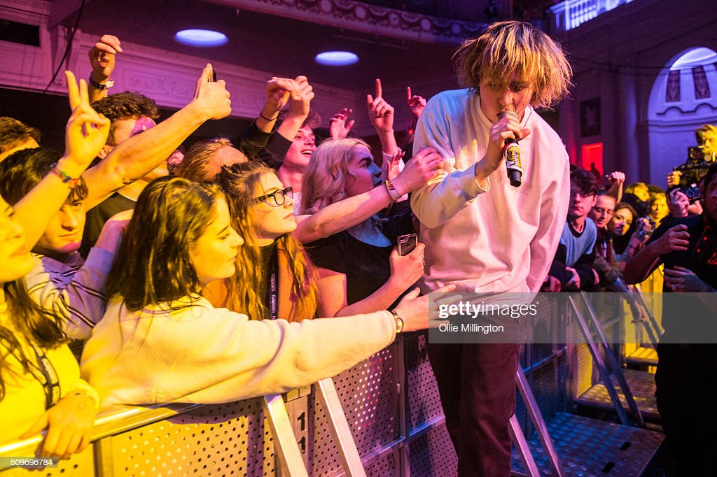 4d17b138139a9 Rat Boy performs along the front row at the NME Awards Tour 2016 ...