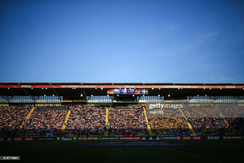 Rat Verlegh Stadion in Breda prior the Group B match between Germany and Sweden during the UEFA Women's Euro 2017 on July 17, 2017 in Breda, Netherlands.
