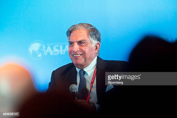Ratan Tata chairman emeritus of Tata Group attends a session at the Boao Forum for Asia in Boao Hainan China on Wednesday April 9 2014 The Boao Forum...