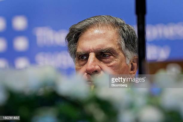 Ratan Tata chairman of Tata Group listens during the Tata Steel Ltd annual general meeting in Mumbai India on Tuesday Aug 14 2012 Tata Steel Ltd...