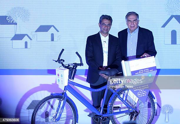 Ratan Tata Chairman of Tata Trusts with Rajan Anandan Managing Director southeast Asia and India Google at the launch of a special programme Internet...