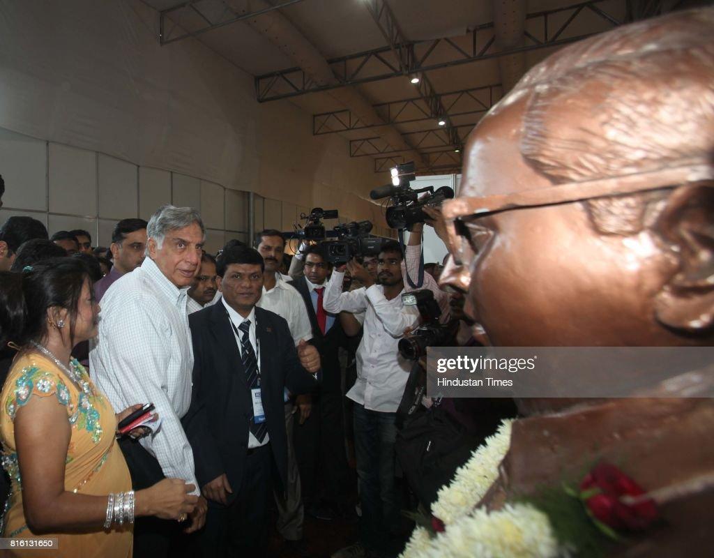 Ratan Tata interacting with entrepreneurs during his vist to Trade Fair by Dalit entrepreneurs at MMRDA Grounds, BKC on Saturday.