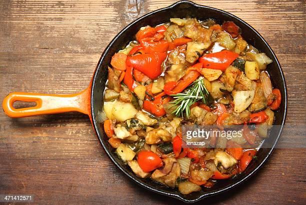 Ratatouille in the pan