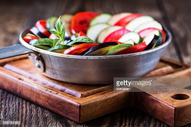 Ratatouille, stewed vegetable dish