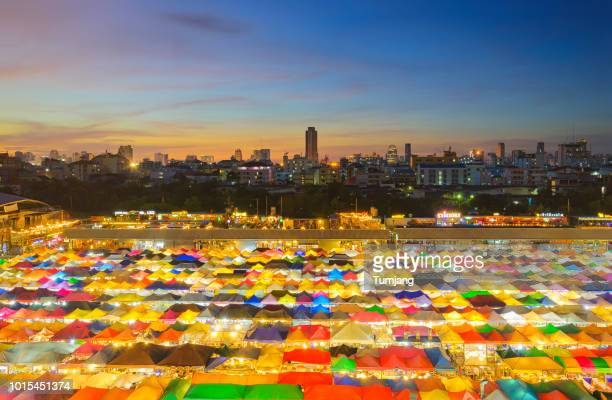 Ratchada Night Market is famous Bangkok night Market. Colour full Market. Night bazaar. Chic, Retro,treditional,meeting style