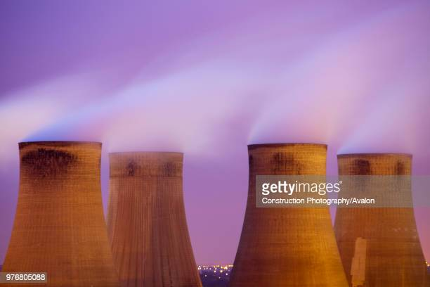 Ratcliffe on Soar coal fired power station at dusk in Leicestershire, UK.