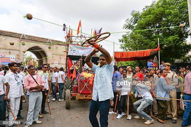 Rath yatra was by followed by 98 trucks and a participation of 30 akhada and several bhajan mandali the rath yatra will cover a distance of 18...