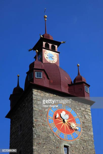 Rathaus clock tower in Lucern