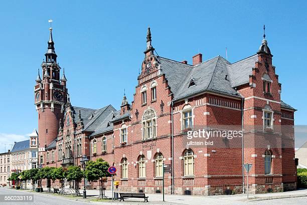 Rathaus der brandenburgischen Stadt Dahme/Mark City hall of the city of Dahme/Mark in Brandenburg
