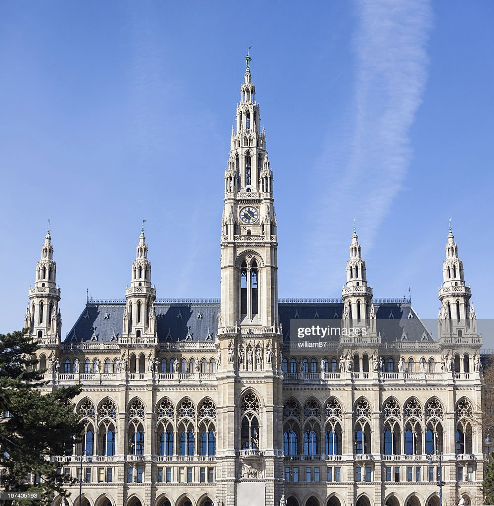 Rathaus, the Town Hall Building in Wien : Stock Photo