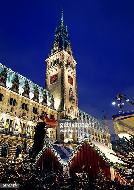 Rathaus with Christmas stall