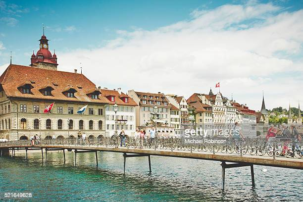 Rathaussteg Bridge, Lucern Switzerland