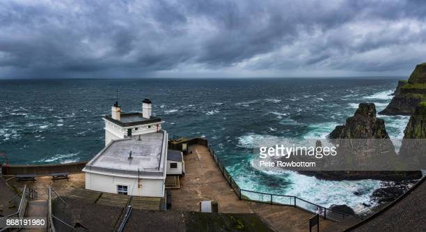rathlin island seastorm - nordirland stock-fotos und bilder