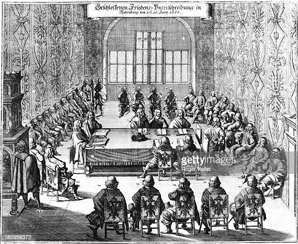 Ratification of the Peace of Westphalia Nuremberg on June 16 1650 Engraving French National Library