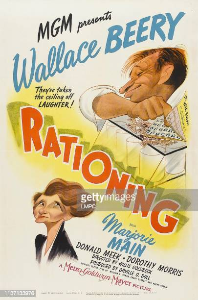 Rationing poster US poster art Marjorie Main Wallace Beery 1944