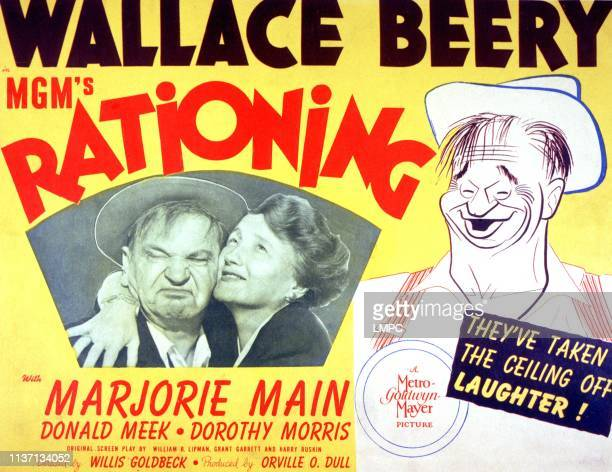 Rationing poster Wallace Beery Marjorie Main 1944
