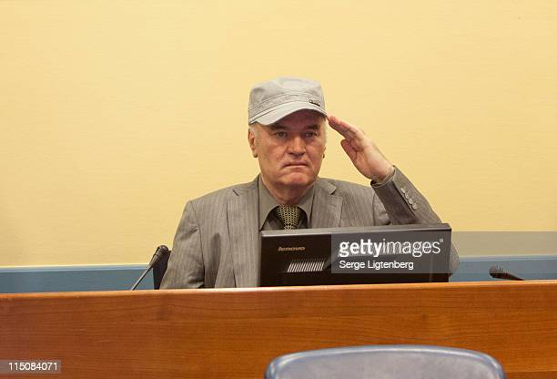 Ratko Mladic makes his first appearance at the International Criminal Tribunal on June 3 2011 in The Hague Netherlands ExBosnian Serb army leader...