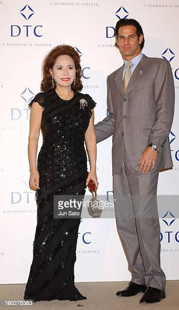 Ratna Sari Dewi Sukarno and guest during Diamonds Unique From Mine To Finger Reception at Tokyo Metropolitan Teien Art Museum in Tokyo Japan