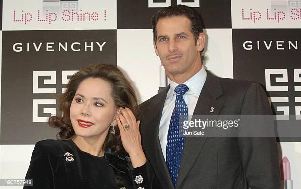 Ratna Sari Dewi Sukarno and guest during Parfums Givenchy's New Lipstick Lip Lip Shine Launch at Mandarin Oriental Tokyo in Tokyo Japan