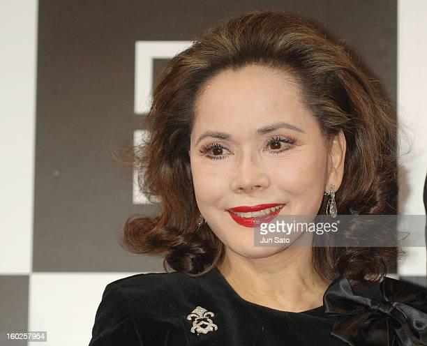 Ratna Sari Dewi Sukarno during Parfums Givenchy's New Lipstick Lip Lip Shine Launch at Mandarin Oriental Tokyo in Tokyo Japan
