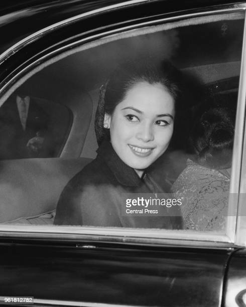 Ratna Sari Dewi Sukarno the wife of Indonesian President Sukarno levaes her hotel in London 26th June 1965 She is in the capital to attend the...