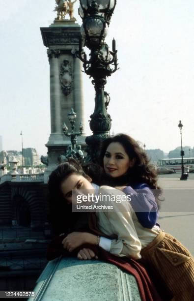 Ratna Sari Dewi Sukarno with daughter Kartika Carina at Paris France 1980s